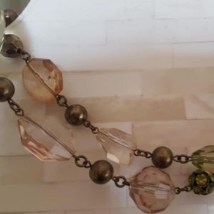 Jewelry - Necklace / Pink, Green & Clear Beads